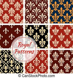 Royal floral decoration pattern backgrounds - Royal floral...