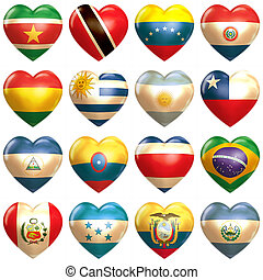 South American Hearts