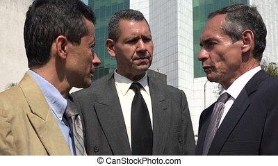 Business Men Talking And Disagreeing