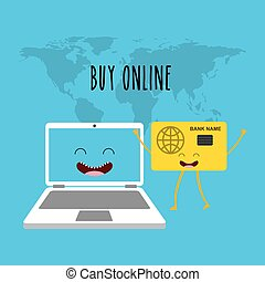 buy online character icon vector illustration design