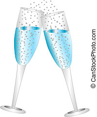 Champagne Glasses - Vector Illustration of Champagne Glasses...