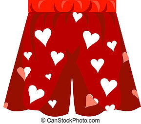 Boxer Shorts Icon Vector for Valentine\'s day or love.