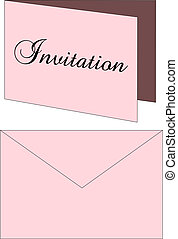 Invitation Envelope - Vector Illustration of a Wedding...