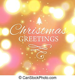 Merry Christmas e-card template. Vector illustration. -...