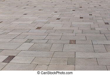 piso, sendero, piedra, losas