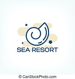 sea shell logo - Vector sea shell logo concept