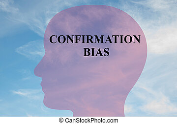 Confirmation Bias - mental concept - Render illustration of...