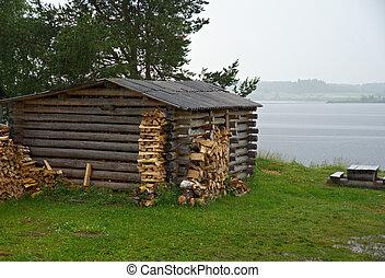 North Russian village Kenozerye Arkhangelsk region, Russia
