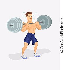 Vector illustration of a weightlifter