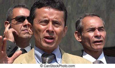 Hispanic Political Leader Speaking