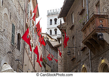 Assisi, Italy - Medieval Assisi, Italy. Assisi is a town in...