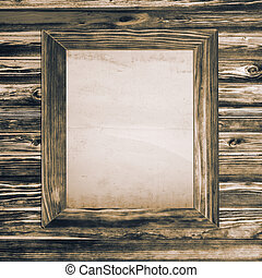 wooden texture and frame - Brown wooden texture and frame...