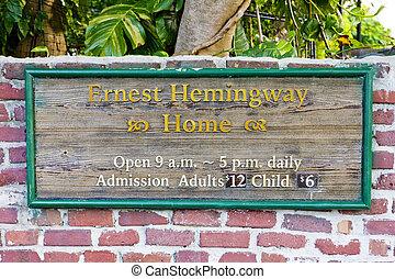 Hemingway House, Key West, Florida, USA