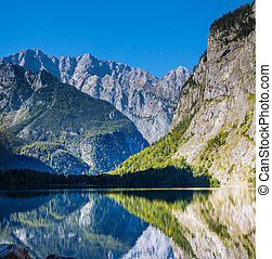 The beautiful Obersee lake in Germany - The beautiful...