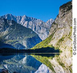 The beautiful Obersee lake in Germany - The beautiful...