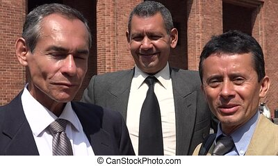 Business Team Of Older Hispanic Business Men