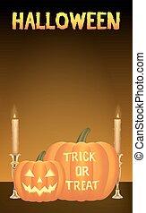 halloween pumpkins vector card