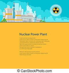 Nuclear Power Plant on the Background of the City , Thermal...