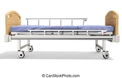3d mobile hospital bed