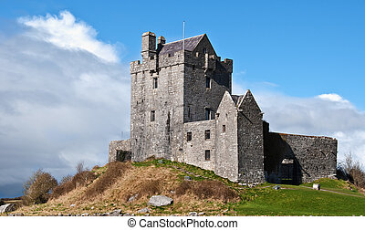 ancient irish castle, west coast of ireland - photo ancient...