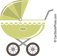 Vector baby carriage - Baby carriage isolated. Goods for...