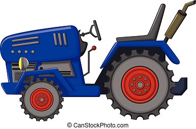 blue tractor cartoon for you design