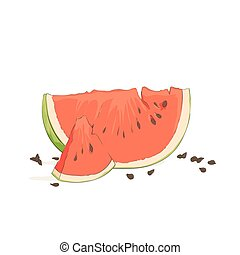 refreshing watermelon pieces - refreshing watermelon on...