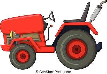 red tractor cartoon for you design - vector illustration of...