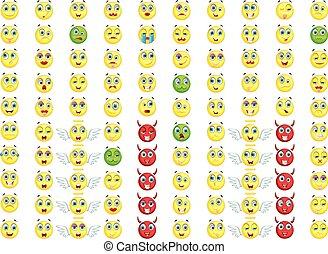 big emoticon set for you design - vector illustration of big...