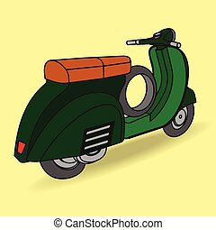 greenscooter - Scooter motorbike vector style