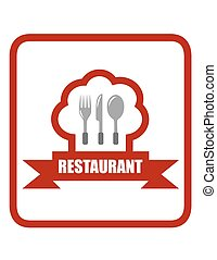 red restaurant icon. cooking concept icon for restaurant...