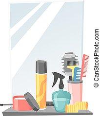 Hairdresser barber icons vector - Cute hairdresser hair care...