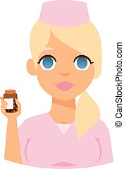 Doctor spetialist avatar face vector, doctor medical staff...