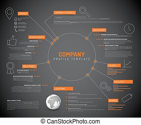 Company infographic overview design template - Vector...
