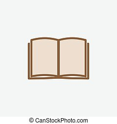 Book icon isolated on white background - Book icon vector...