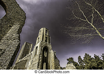 English Abbey including ruins - This is a picture of the...