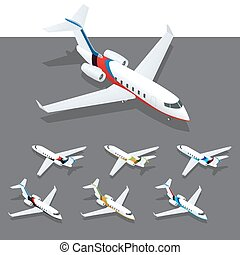 Isometric private jet