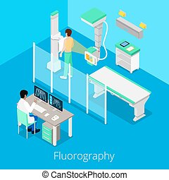 Isometric Radiology Fluorography Procedure with Medical...