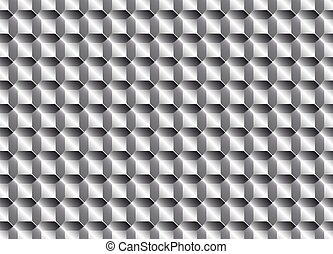Texture metal tiles or scales. Gray color.