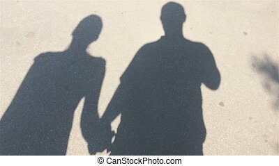 moving shadows, men and women slow motion
