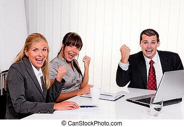 成功, 會議, 辦公室, 隊