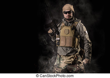 soldier with an assault rifle