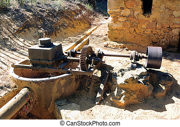 the water valve of the Roussillon ocher factory where was...