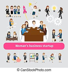 Professional woman business networking. Group of women for...