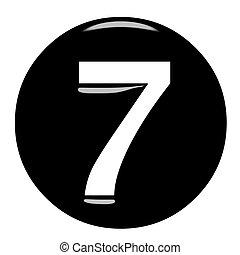 3D Framed Number 7