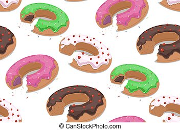 Seamless texture with a bite donuts into the glaze and grit....
