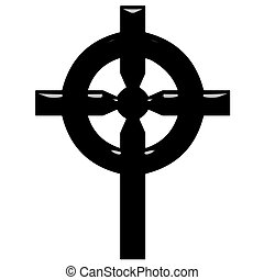 3D Celtic Cross - 3d Celtic Cross isolated in white