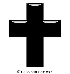 3D Cross  - 3d Cross isolated in white