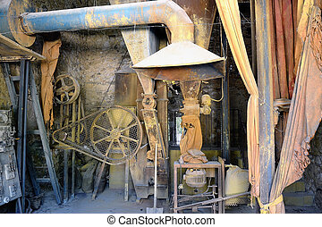 a workshop Roussillon ocher factory where was treated ore to...