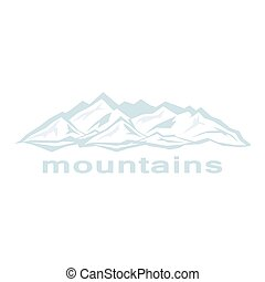 Abstract mountains. Blue ridges
